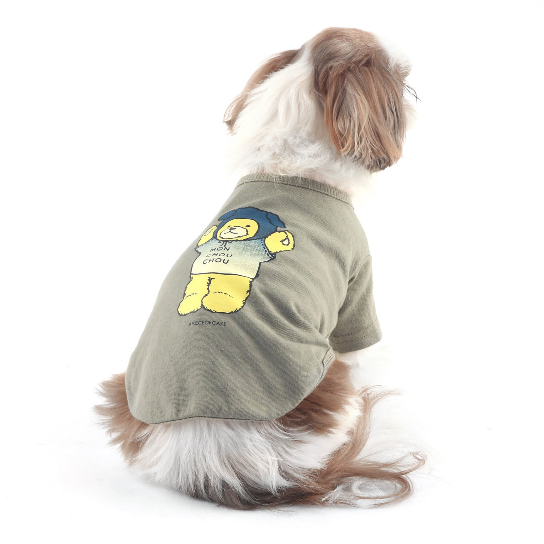 Khaki Bear Dog Tee