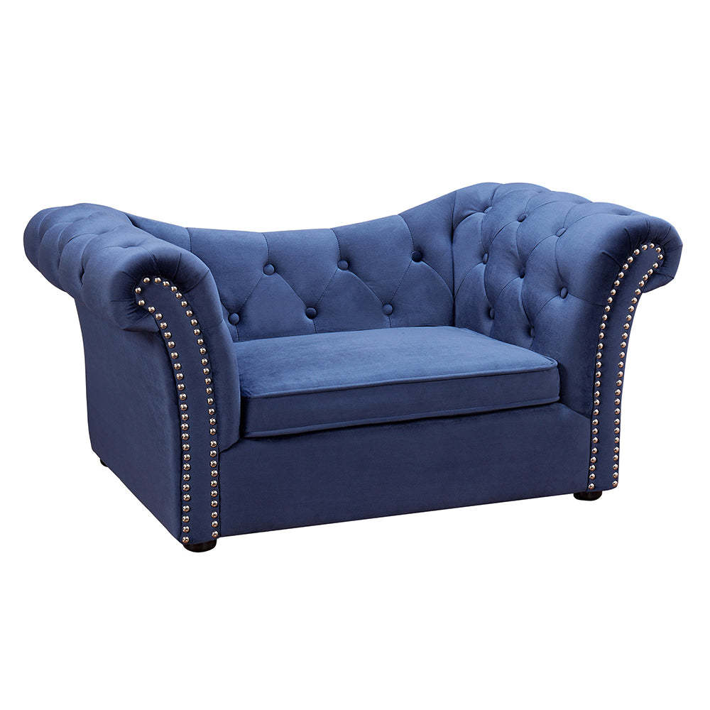 Catherine Pet Sofa: Navy
