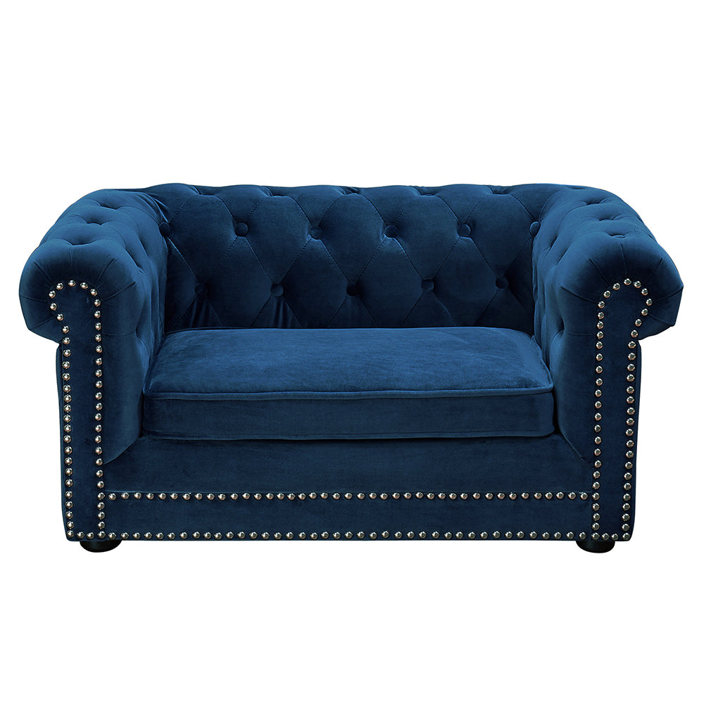 Chesterfield Pet Sofa: Navy