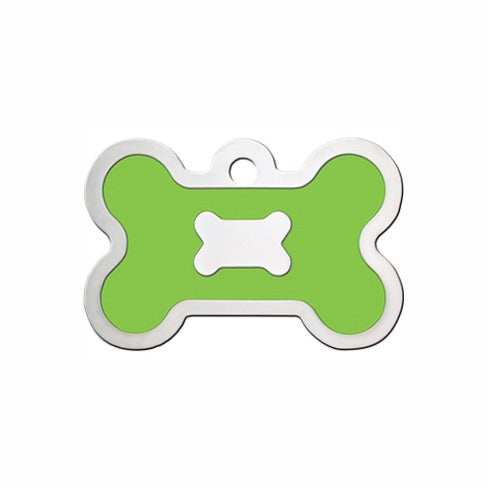 Bone Pet ID Tag: Neon Green (Large)