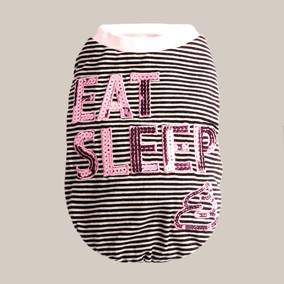 Eat Sleep Dog Tee: Pink