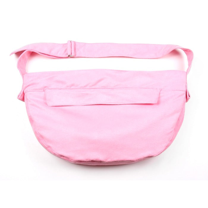 Luxe Suede Cuddle Pet Carrier: Pink
