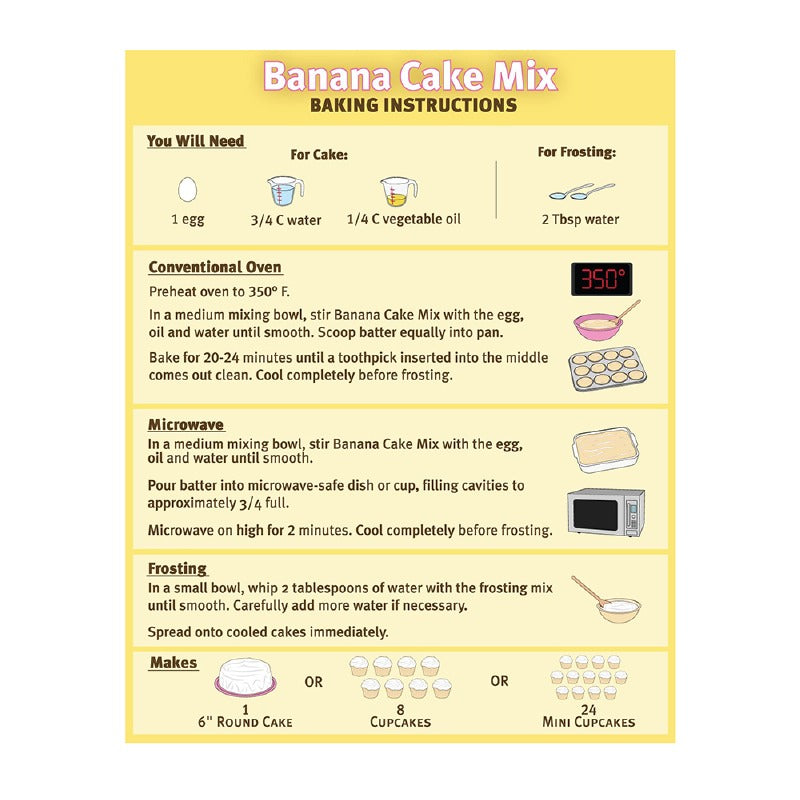 Banana Flavored Puppy Cake Mix