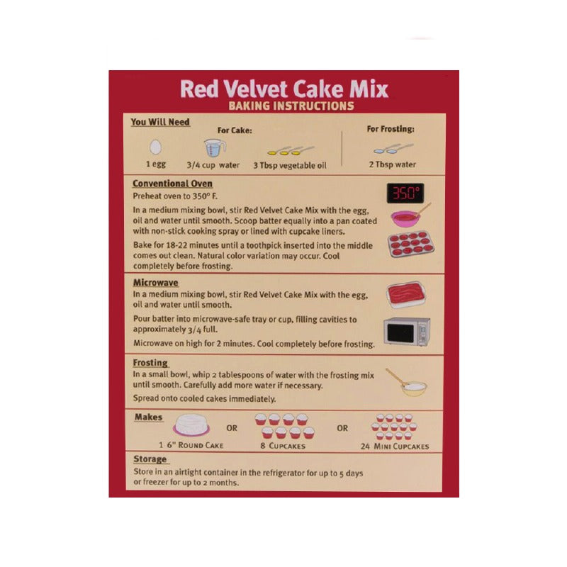 Red Velvet Flavored Puppy Cake Mix