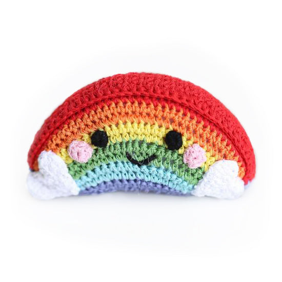 Crochet Rainbow Dog Toy