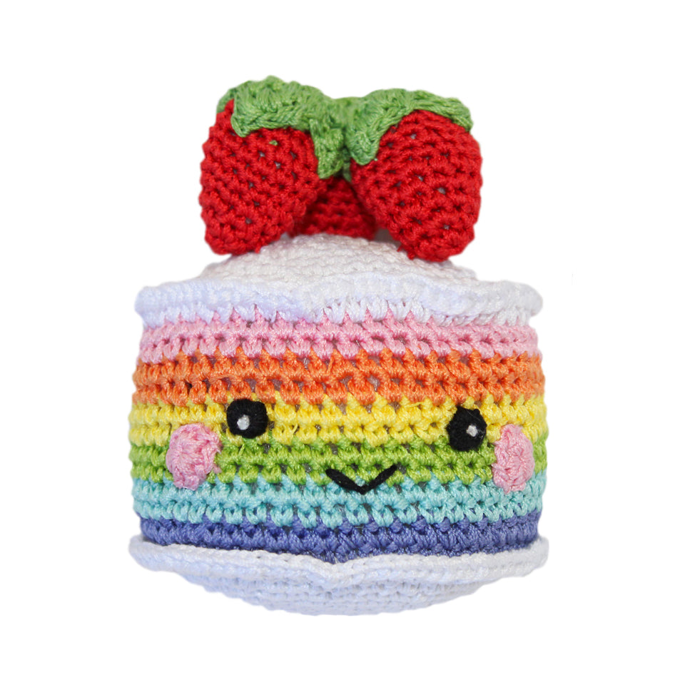 Rainbow Cake Crochet Dog Toy