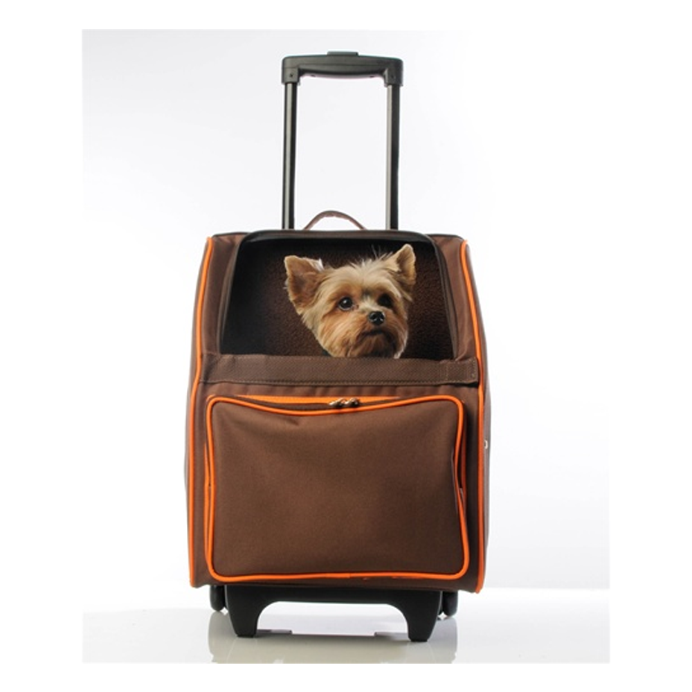 RIO Rolling Pet Carrier: Orange