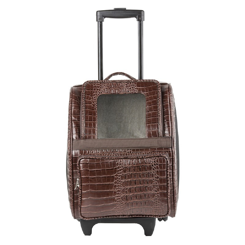 Rio Croco Rolling Pet Carrier: Brown