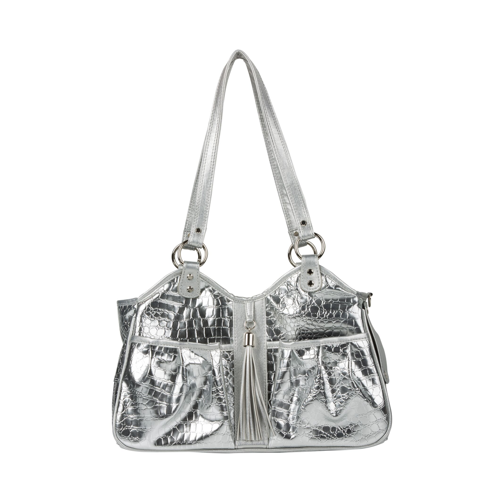 Metro Gator Pet Carrier: Silver