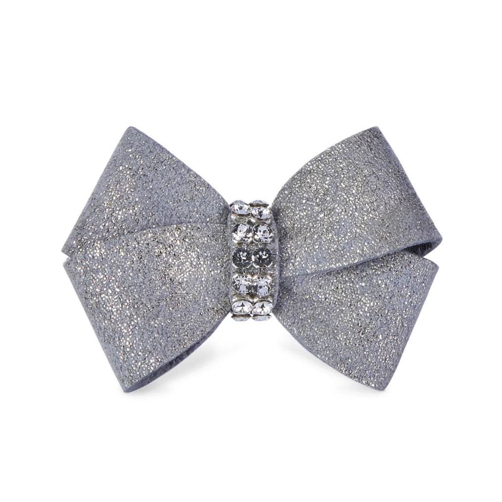 Dog Bow - Platinum Glitzerati Dog Bow
