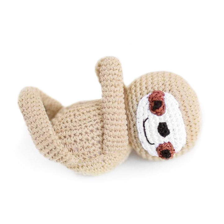 Crochet Sloth Dog Toy