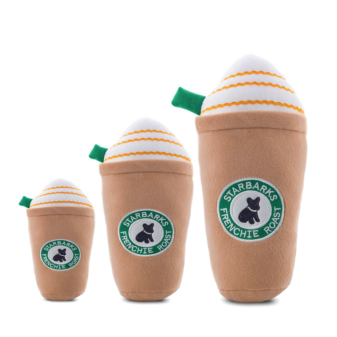 Starbarks Caramel Frappuccino Dog Toy