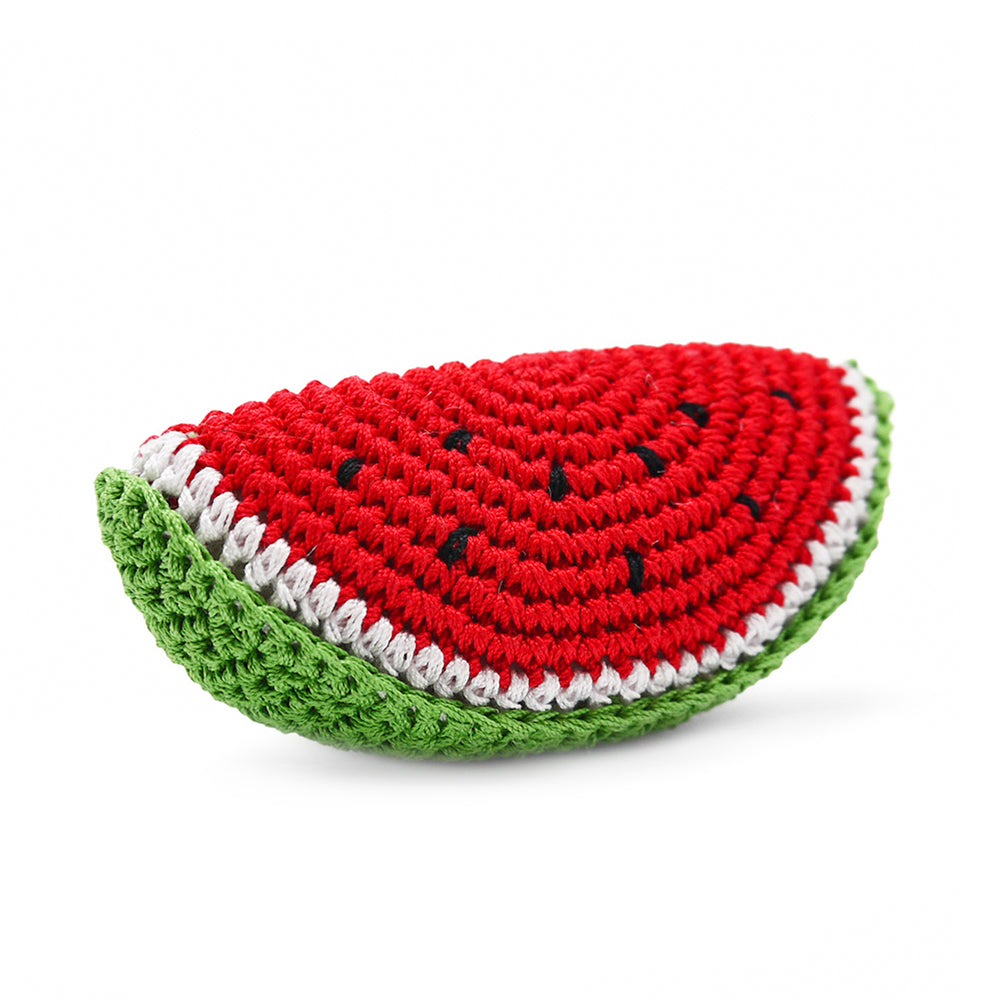 Watermelon Crochet Dog Toy