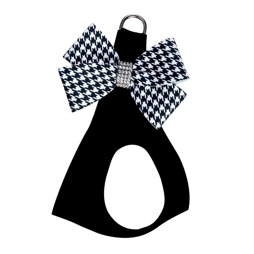 Nouveau Bow Black Harness: Houndstooth Bow