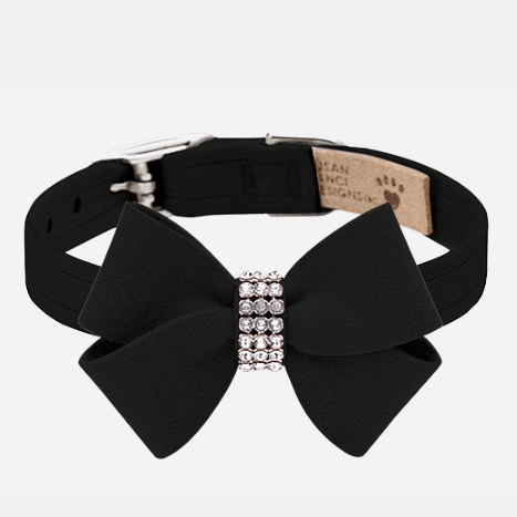 Nouveau Bow Collar: Black
