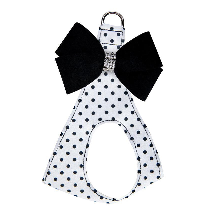 Nouveau Bow Polka Dot Harness: Black Bow