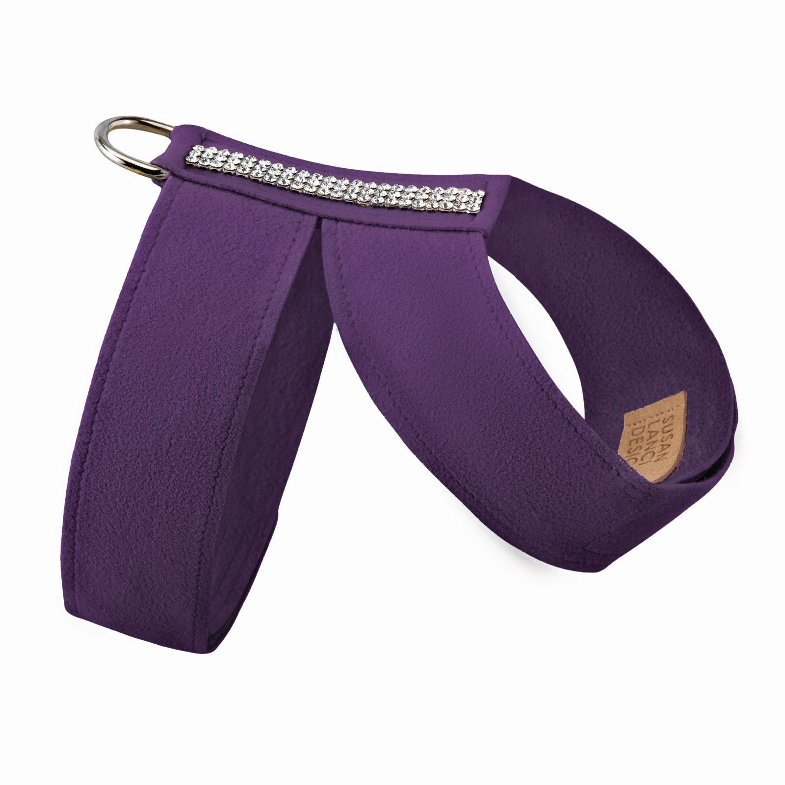 Giltmore 3-Row Crystal Pet Harness: Amethyst