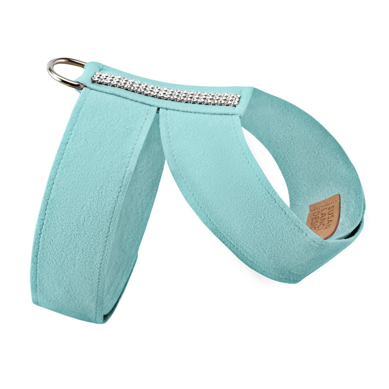 Giltmore 3-Row Crystal Pet Harness: Tiffi Blue