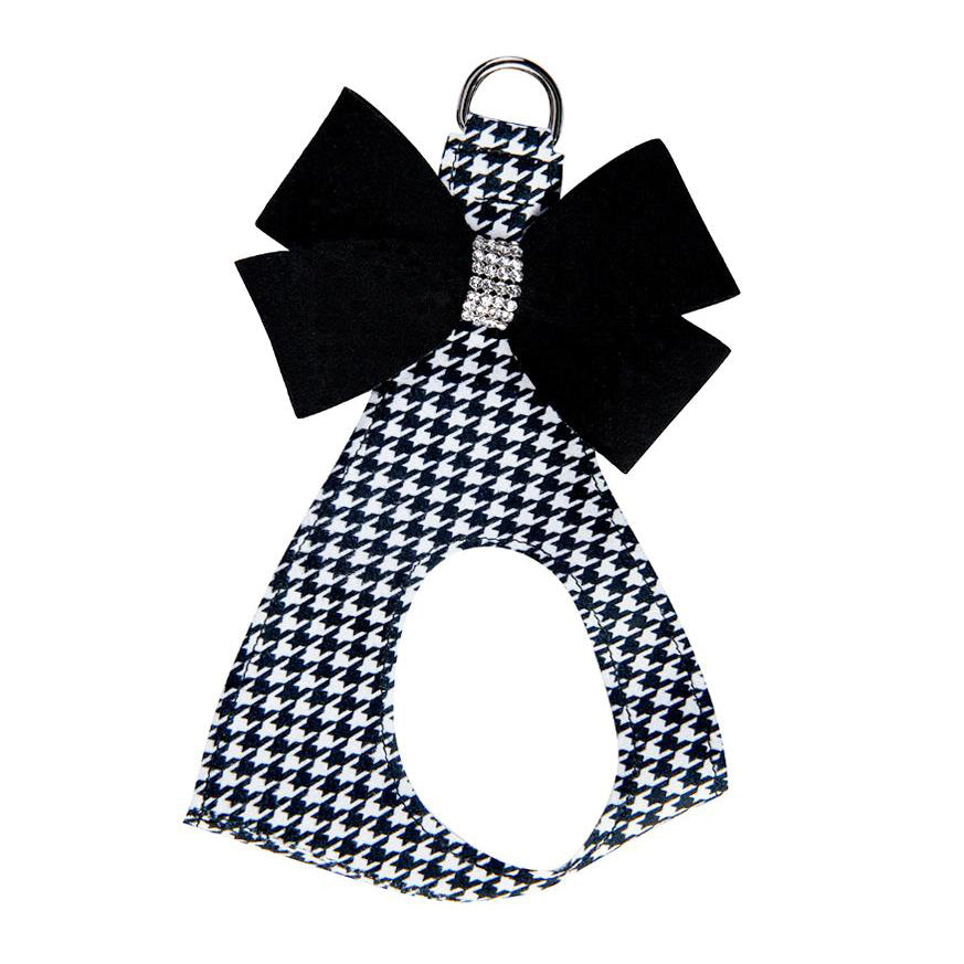 Nouveau Bow Houndstooth Harness: Black Bow