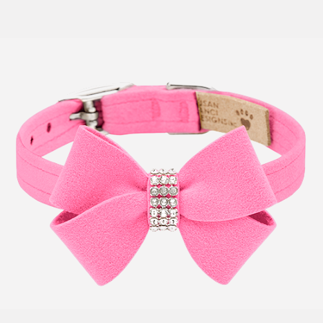 Nouveau Bow Collar: Perfect Pink