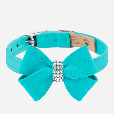 Nouveau Bow Collar: Bimini Blue