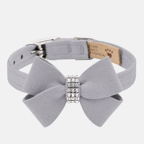 Nouveau Bow Collar: Platinum