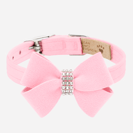 Nouveau Bow Collar: Puppy Pink