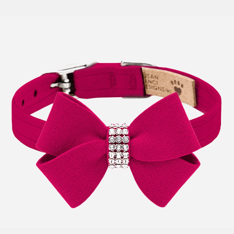 Nouveau Bow Collar: Red