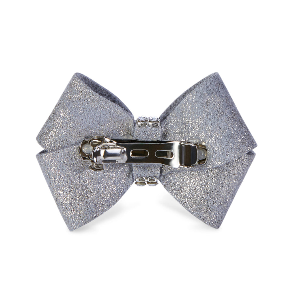 Dog Bow - Platinum Glitzerati Dog Hair Bow
