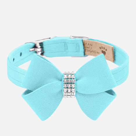Nouveau Bow Collar: Tiffy Blue