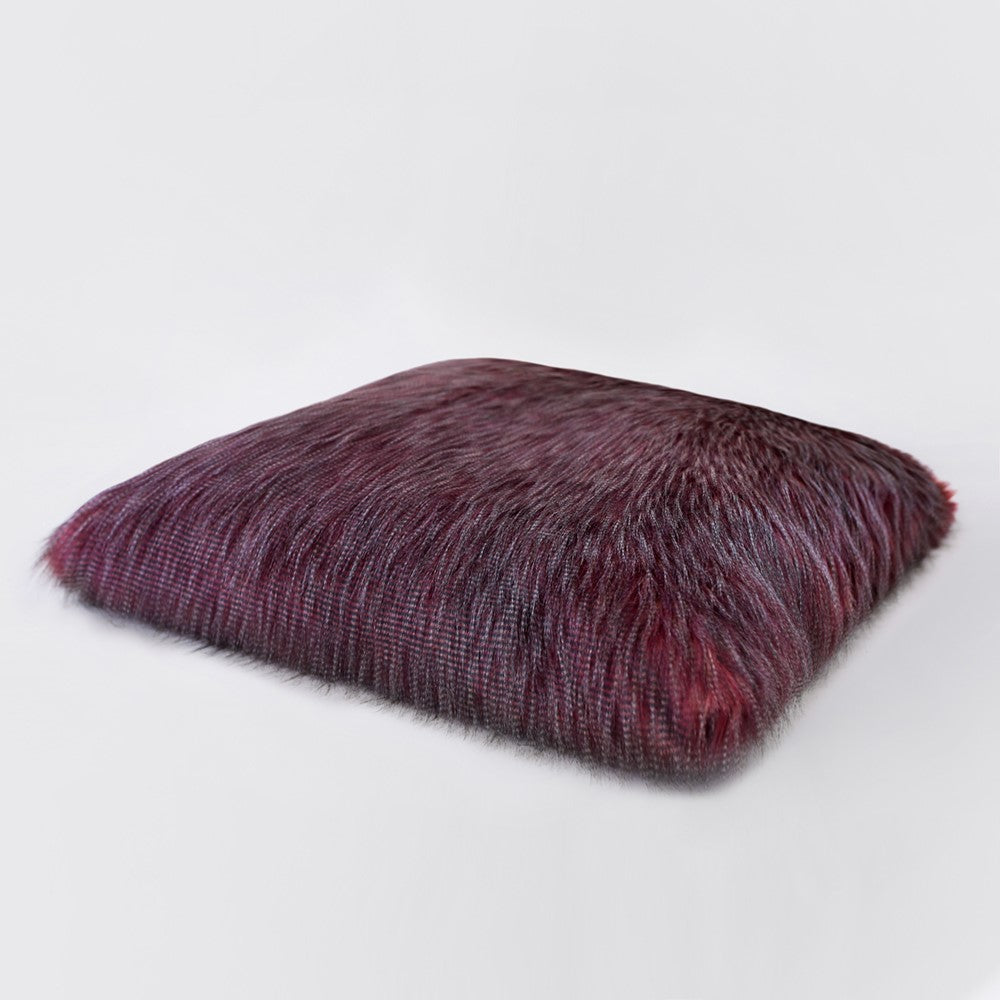 Yak Faux Fur Dog Mat: Exotic Ostrich