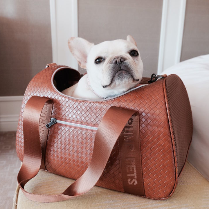 Duffle Pet Carrier: Brown Graphite