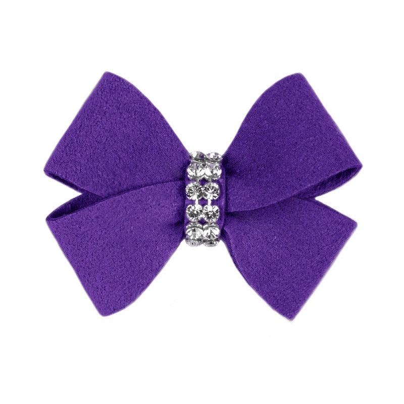 Dog Bow - Violet Nouveau Dog Bow by Susan Lanci