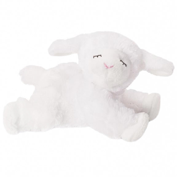 Winky Lamb Rattle Dog Toy