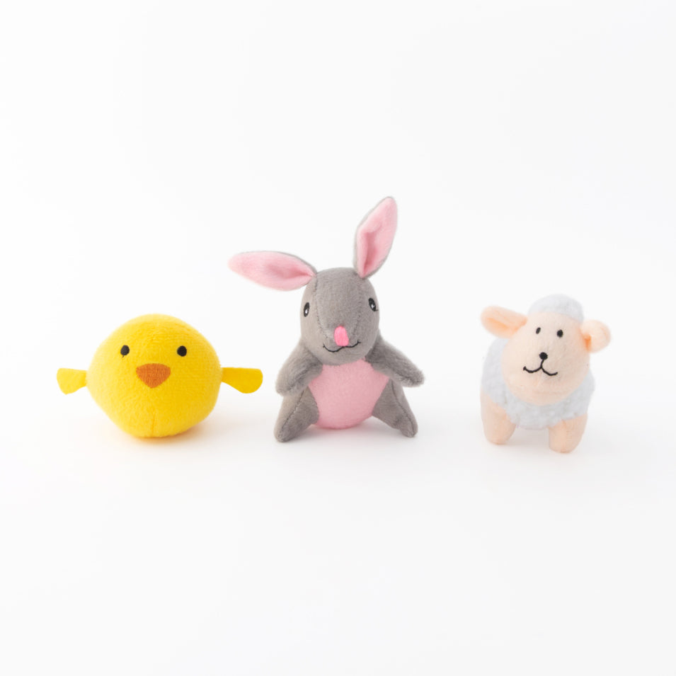 Easter Egg & Friends Dog Toy