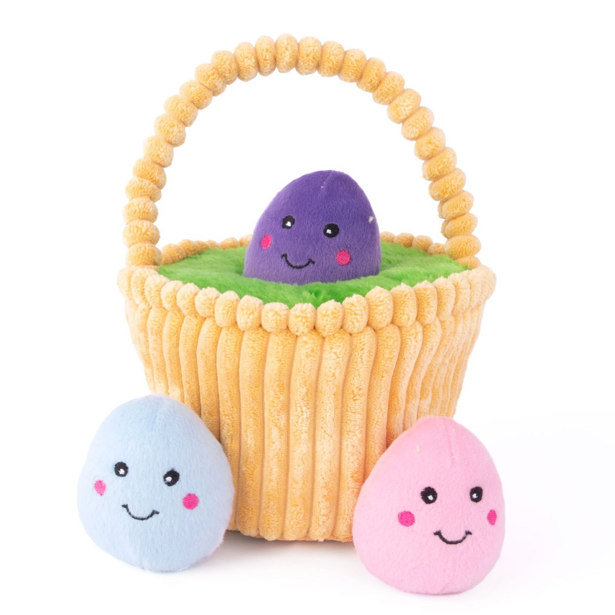 zippy paws easter egg basket interactive dog toy