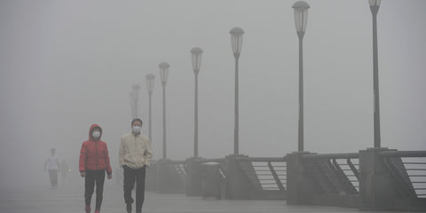 Air pollution in China - where life spans are significantly shortened from air pollution