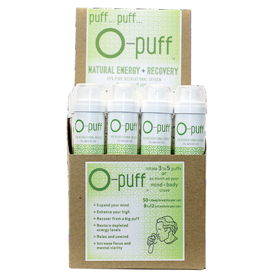 O-puff - Natural - 24-pack with cannabis leaf - The Oxygen Plus Store - 2