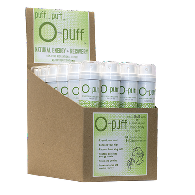 O-puff - Natural - 24-pack with cannabis leaf - The Oxygen Plus Store - 1