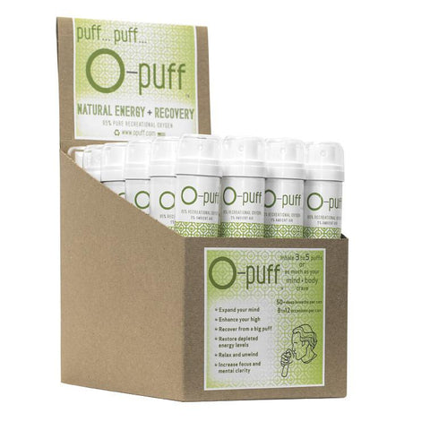O-puff - Natural with cannabis leaf -