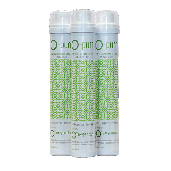 O-puff - Natural - 3-pack with cannabis leaf - The Oxygen Plus Store - 1