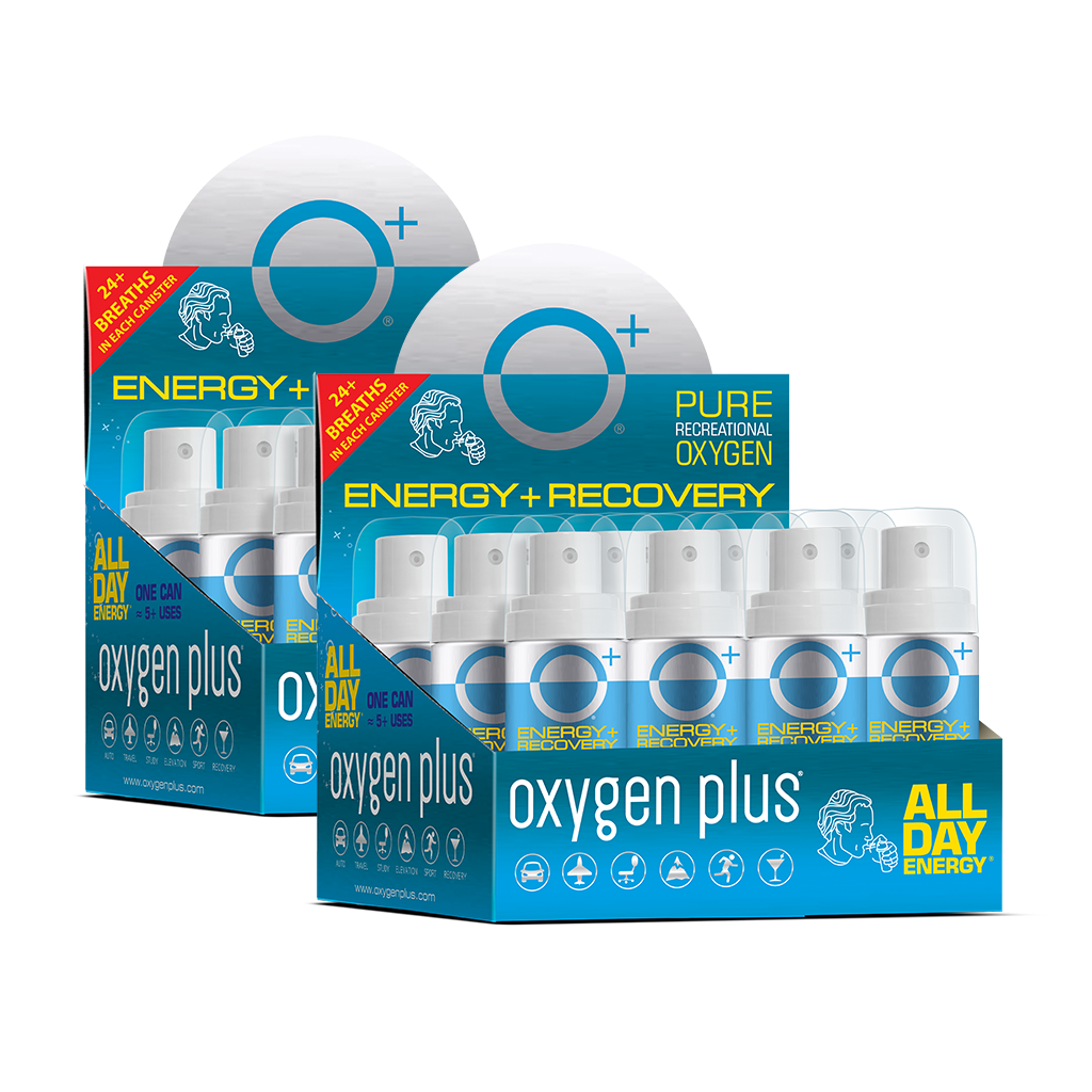 O+ Mini Canisters - 24 Pack POP Display Tray