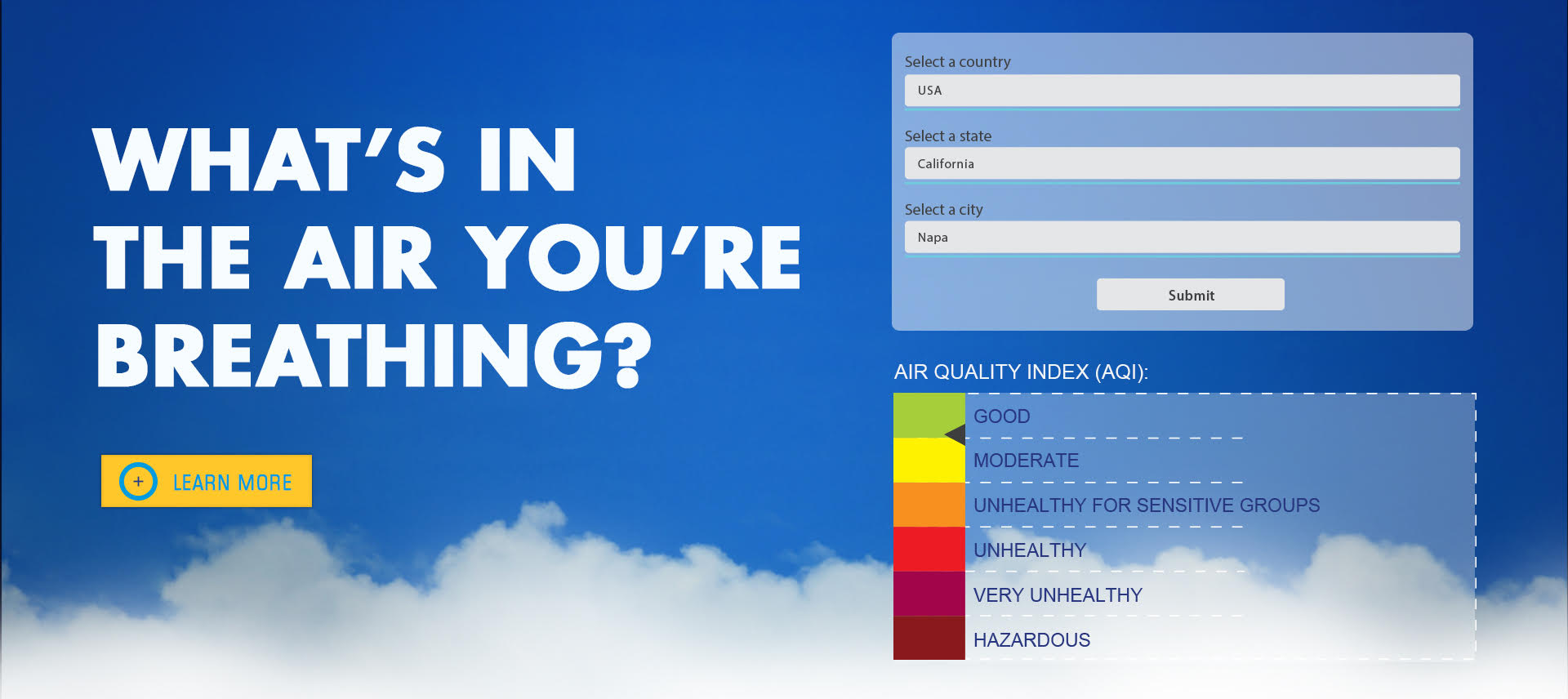 OxygenPlus - Air Pollution Page