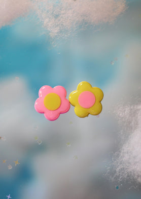 Pink and Lemon Mix & Match Studs