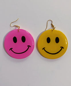 *SALE* Big Yellow and Pink Mix & Match Smiley Dangles
