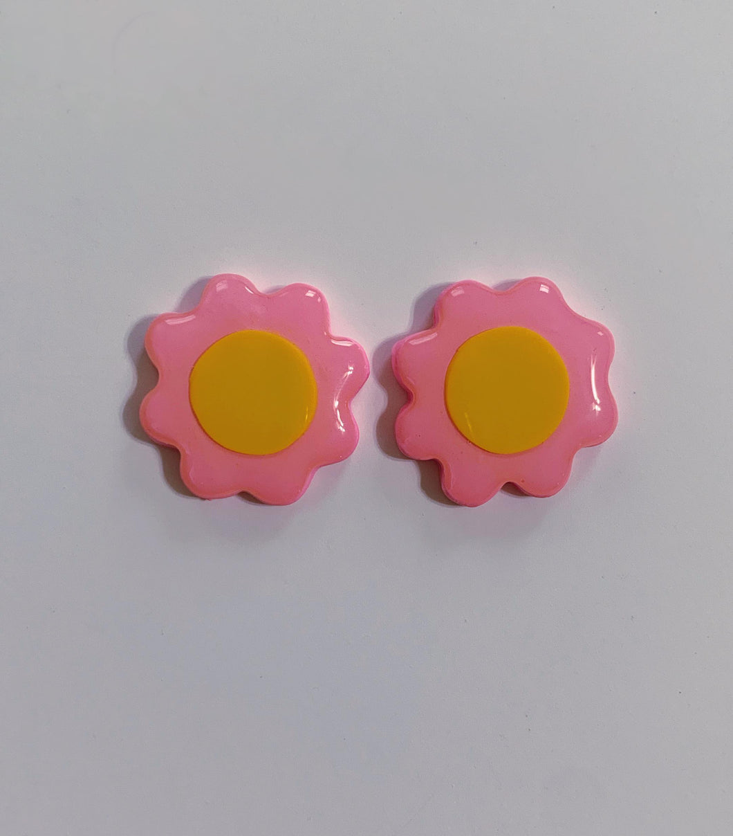 Pink and Yellow Daisy Studs