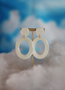 Opalescent Oval Hoops