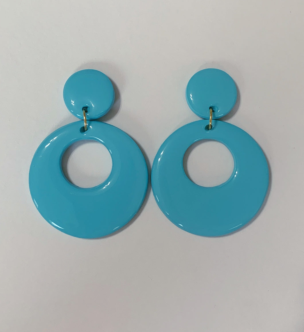 *SALE* Baby Blue Mod Hoops