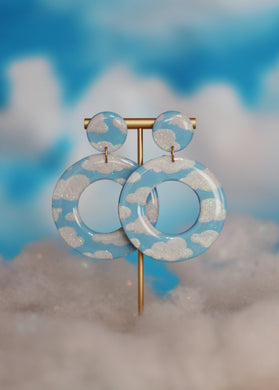 XL Sparkle Cloud Hoops