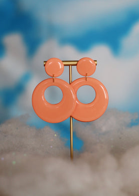 *SALE* Peach Mod Hoops
